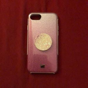 Accessories - Pink sparkle iPhone 7/8 case